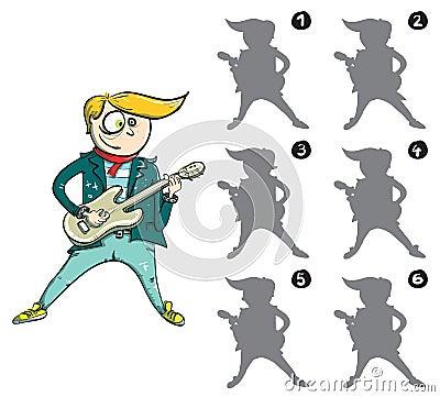 Guitarist Mirror Image Visual Game