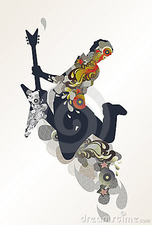 Guitarist - music background