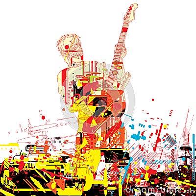 Guitarist paint