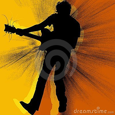 The guitarist silhouette