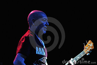 Guitarist on stage Editorial Stock Image