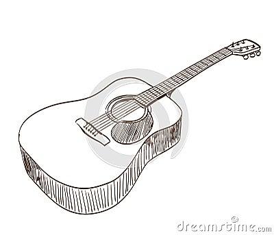 Guitarra Acustica Dibujo,