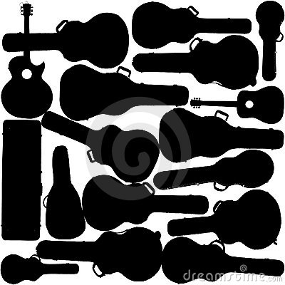 Guitars and cases