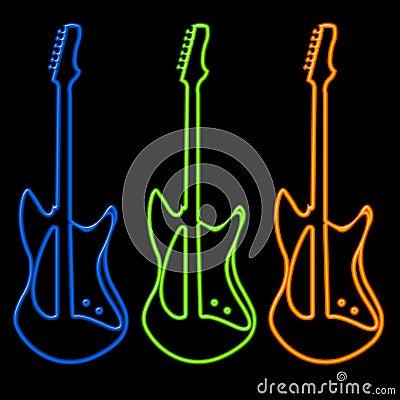 Guitars in Neon