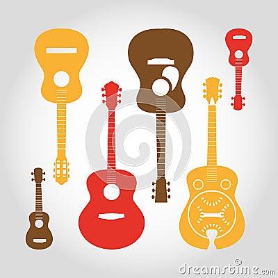 Guitars set