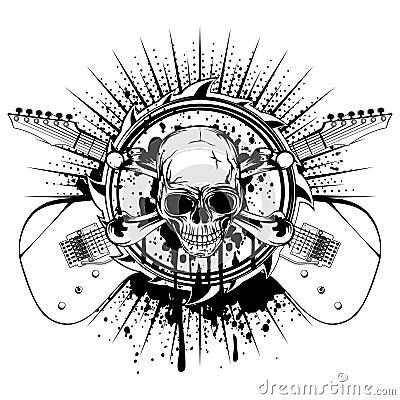 Free Guitars Skull Var 16 Royalty Free Stock Photo - 88617165