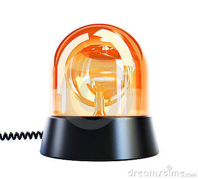 Gul exponerande lampa