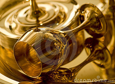 Guld- bägare