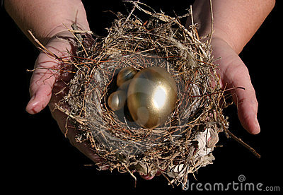 Guld- handrede för ägg