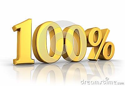 Guld hundra en procent