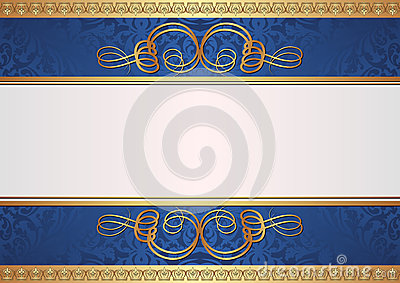 Guld- och blåttbakgrund