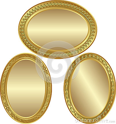 Guld- oval för bakgrund