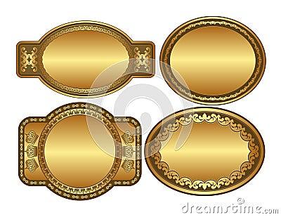 Guld- oval för bakgrunder