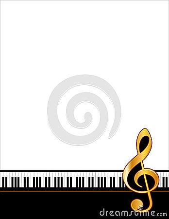 Guld- pianoaffisch