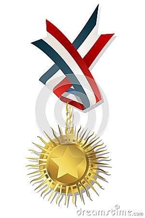 Guld- stjärna för utmärkelse