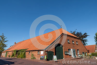 Gulf farmhouse in Greetsiel, Germany Editorial Photography