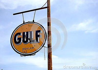 Gulf oil sign editorial stock photo image 54648948 for The best motor oil in the world