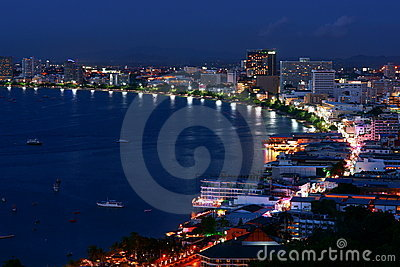 The Gulf of Pattaya Editorial Stock Photo