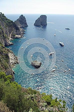 Gulf of Salerno - Capri Island, Italy