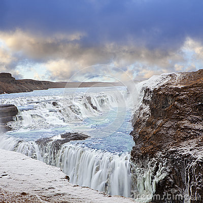 Free Gulfoss Waterfall In Iceland Stock Photography - 45398702