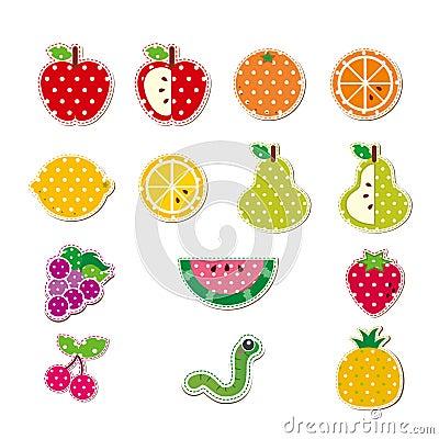 Gullig häftad frukt