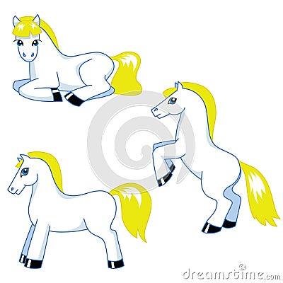 Gullig ponnyuppsättning