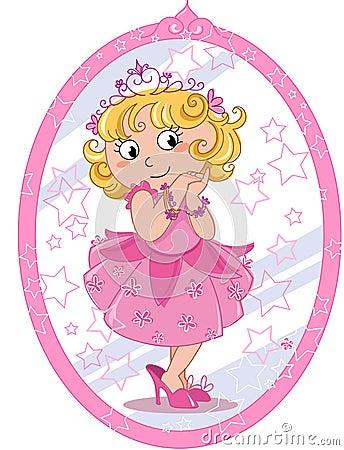Gullig princessflicka