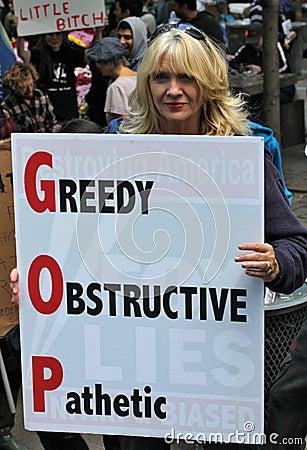 Gulzige obstructieve pathetisch Redactionele Stock Foto