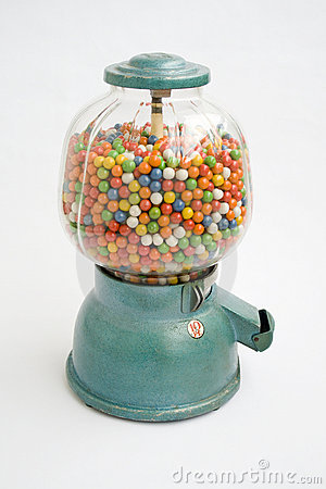 Stock Image: Gumball machine from an old store in 1950. Image: 15292631