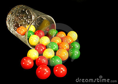 Gumballs and glass