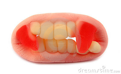 Gummy vampire teeth candy