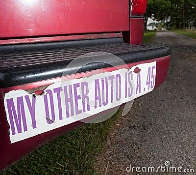 Gun bumper sticker
