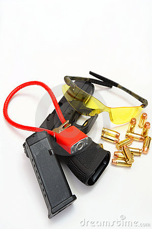 Gun, Cartridges  And Safty Accessories