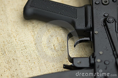 Gun in close up