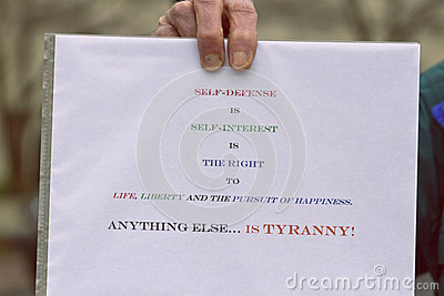 Gun Control Protest Sign Editorial Stock Image