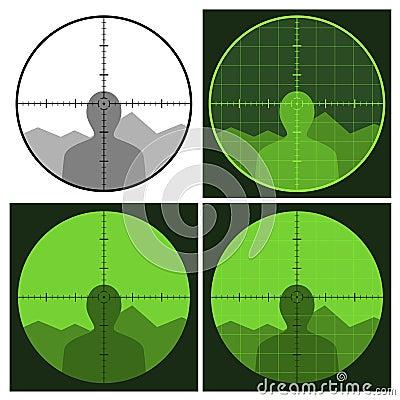 Gun crosshair sight
