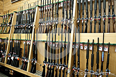 Gun department Editorial Stock Image