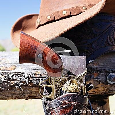 Gun and hat