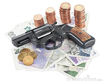Gun on money