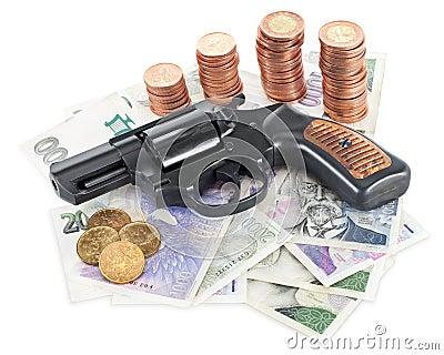 Gun on money
