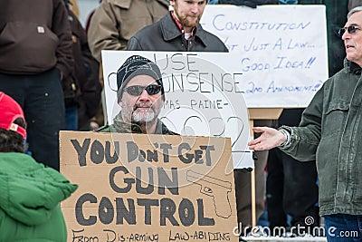 Gun rights rally Montpelier Vermont. Editorial Image