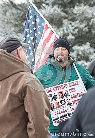 Gun rights rally Montpelier Vermont. Editorial Stock Photo