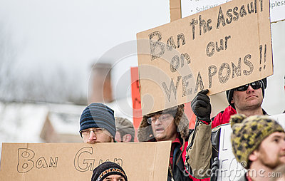 Gun rights rally Montpelier Vermont. Editorial Photography