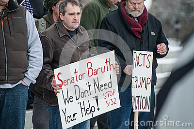 Gun rights rally Montpelier Vermont. Editorial Photo