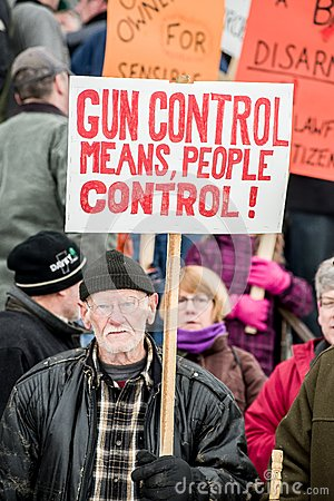 Gun rights rally Montpelier Vermont. Editorial Stock Image