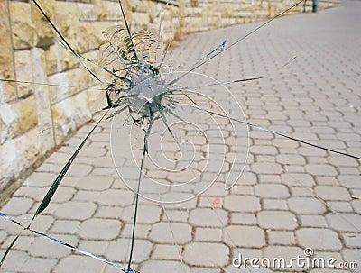 Gun shot window