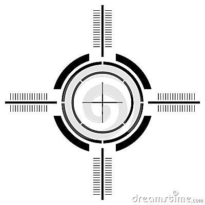 Gun sight over white