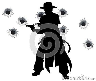 Gun slinger western shoot-out