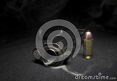 Gun and smoke
