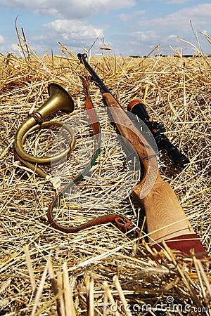 Gun and a trumpet